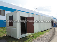 Residential building based on shipment container with dimensions of 2,44х 12,19х2,59 m