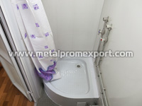 Shower room of skid-mounted mobile residential building for 8 persons with dimensions of 2,5х12х2,6 m