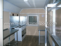 Cooking module in truck-mounted trailer house with dimensions of 8х2,5х2,6 m